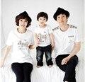 2017 новое лето топы детский с коротким рукавом Футболки Корейских детей пары одежды прилив семьи сопоставления одежда