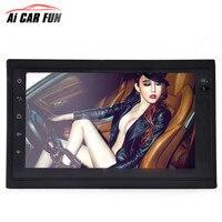 2DIN 7 дюймовый универсальный Android 6,0 автомобиль wi fi мультимедиа плеер gps навигатор HD Реверсивный аудио видео FM автомобиля радиоприемник MP5
