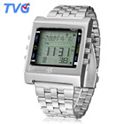 TVG Men Watches Men Digital Watches Fashion Square Dial Alarm TV DVD Remote Control Watch Led Digital Watches Men Sports Watches