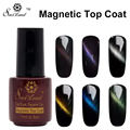 Saviland 1pcs Magnet Top Coat Gel Primer Nail Cat Eye Glitter Esmalte Gel Professional Coat For Nail Art Polish