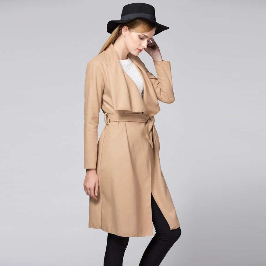 Hart Arbeitend Lange Trenchcoat Für Frauen Dünne Lange Mantel-graben-windbreaker Outwear Strickjacke 100% Original Frauen Kleidung & Zubehör Jacken & Mäntel