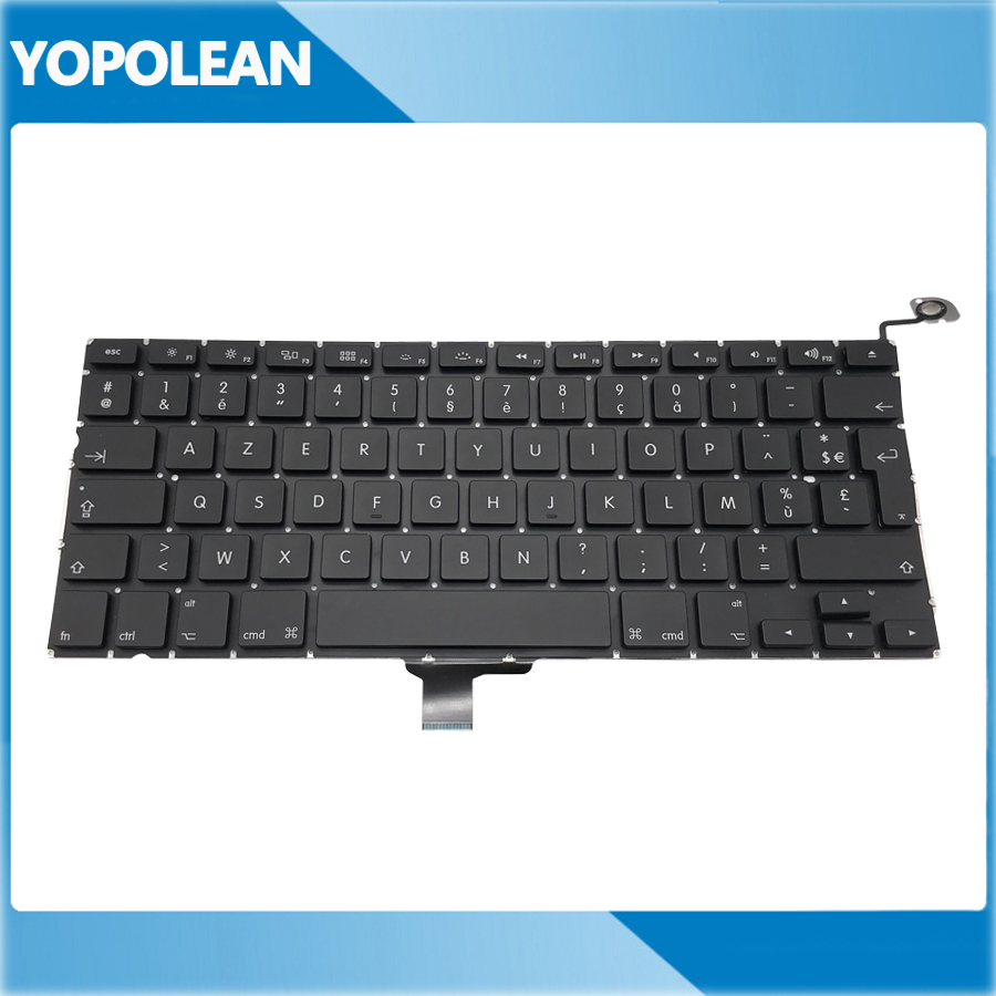 5 pcs New AZERTY French Keyboard For Macbook Pro 13 Unibody A1278 2009 2010 2011 2012