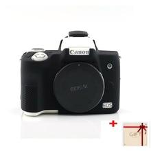 Coque de protection en silicone souple de haute qualité pour Canon EOS M50 accessoires pour appareil photo avec stylo propre