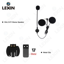 Lexin Eearpiece de Intercomunicación Auricular y Clip Set Accesorios para LX-R6 R3 Bluetooth Casco Intercomunicador Del Interphone Auricular del Enchufe de Gato