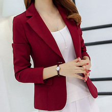 New Autumn Summer Women's Coats Solid Long Sleeves Coat Plus Size Casual Jacket One Button Suit Lady Red Coats Office Work Suits plus button decoration solid coat