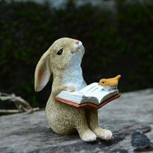 Image 5 - Повседневная коллекция милых Пасхальных Кроликов, декоративный Волшебный сад, Фигурка кролика, домашний декор, подарок на день Святого Валентина