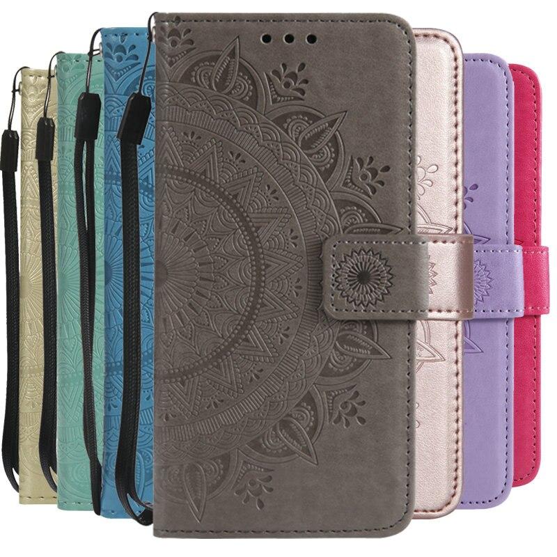 Galleria fotografica 5.6'' Leather Totem Etui for Samsung Galaxy J6 2018 Case Coque Samsung j6 Case Flip Cover for Samsung J6 2018 Cover Card Slot