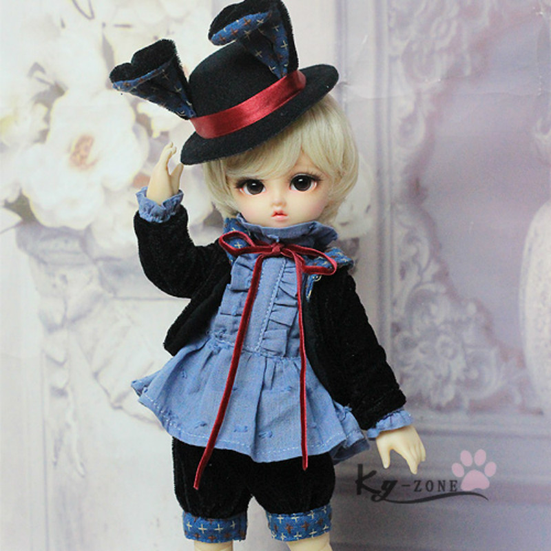 BJD doll clothes 1/6BB YOSD can wear British gentleman suit ---- hat rabbit sweetie chocolate mousse european retro outfit dress suit for bjd doll 1 6 yosd doll clothes lf9