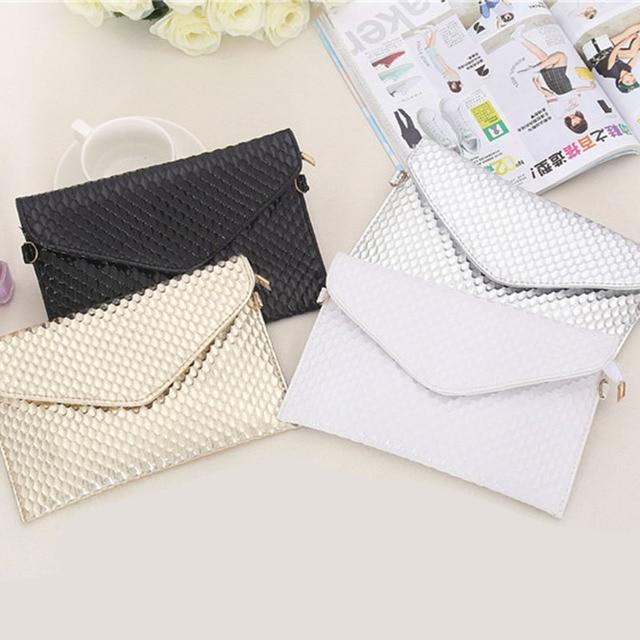 PU Leather Clutch Lady Evening Handbag 2