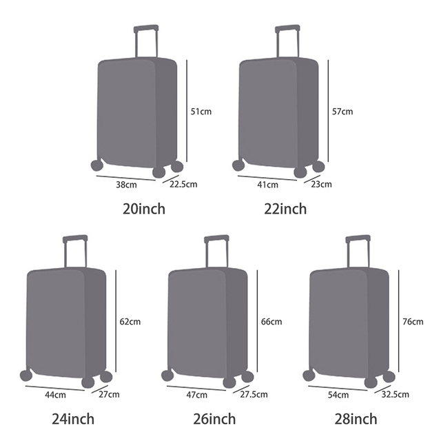 Hot 20/22/24/26/28 Transparent Luggage Cover Waterproof Suitcase Cover Travel PVC Thickening Dustproof Protective Cover #H12^ 1