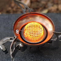 Outdoor Camping Windproof Gas Stove Mini Portable Cooking Picnic Furnace Shaped Energy Saving 1400W Combustion Power Stove