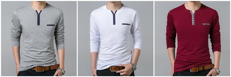 HTB1wv2wPpXXXXbyapXXq6xXFXXXK - COODRONY Cotton T Shirt Men 2018 Spring Autumn New Long Sleeve T-Shirt Men Henry Collar Tee Shirt Men Fashion Casual Tops 7617