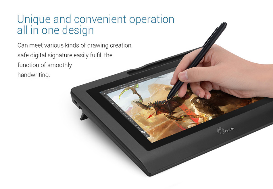 """Image 4 - Parblo Coast 10 Graphic Monitor 10"""" Screen Drawing Tablet with Battery free Pen Support Win Mac+ Anti fouling Glove as Gift-in Digital Tablets from Computer & Office"""