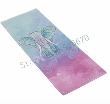 Folding Natural Rubber Yoga Mat environment-friendly slip-resistant Hot Yoga finest yoga mat for hot yoga Fitness Gym mat elephent