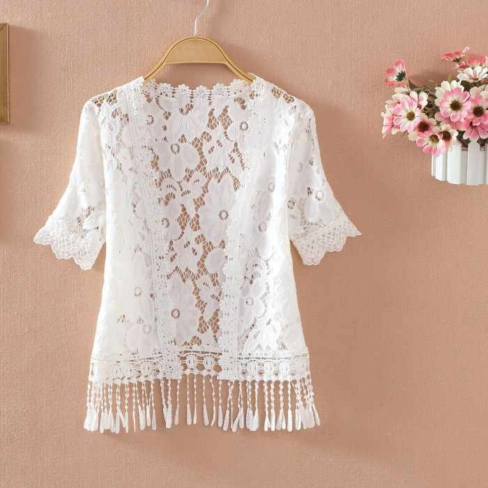 Detail Feedback Questions About 2019 New White Lace Summer Thin