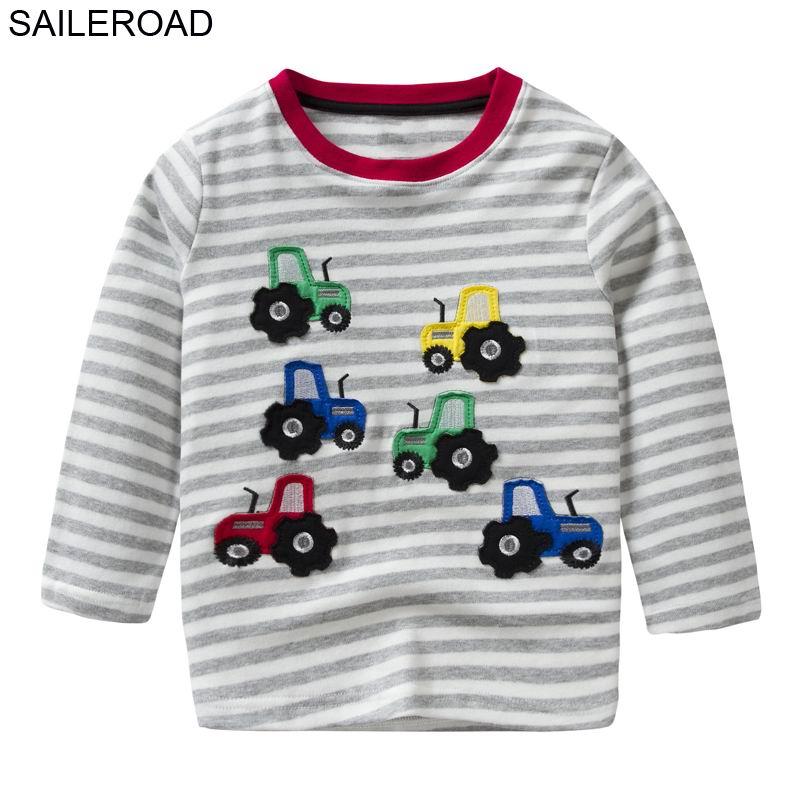 SAILEROAD Bande Dessinée Tracteurs Enfants Garçons T Shirt 2-7Years Coton Enfant Bébé Garçons Filles Tops T-shirts La camiseta Vestuario t chemise