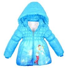 Куртки для девочек; утепленная теплая верхняя одежда; одежда для детей; куртка с капюшоном и рисунком Золушки; зимнее пальто; коллекция года; модная детская куртка