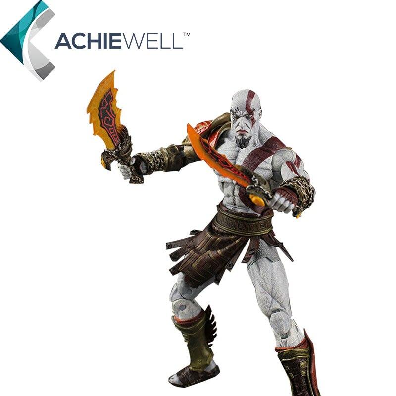 2016 New NECA God of War Kratos in Golden Fleece Armor with Medusa Head PVC Action Figure Collection Model Toys Dolls god of war 2 pvc action figure display toy doll kratos with medusa head