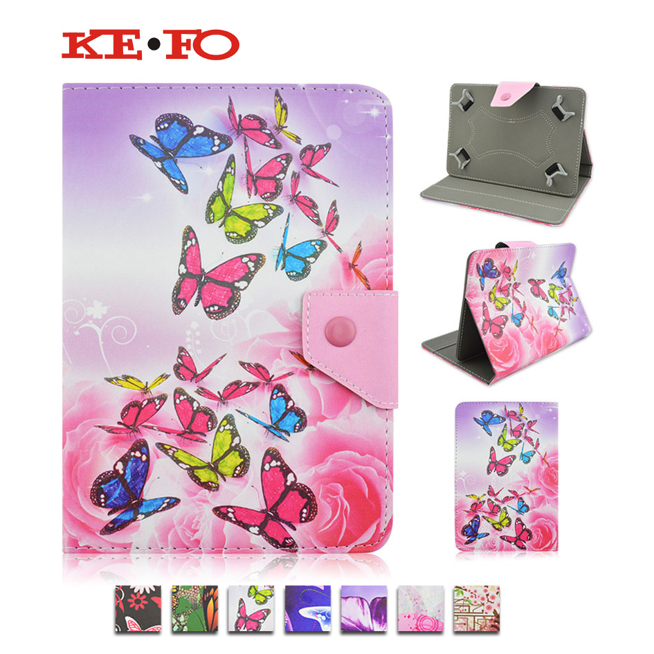 Funda Tablet 7 universal Butterfly Stand PU Leather Case Cover For Prestigio MultiPad PMT3767C 3G 7 Inch tablet Accessories