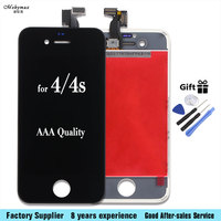 For Iphone 4s 7 7plus LCD Display Touch Screen Front Glass Digitizer Glass Assembly With Free