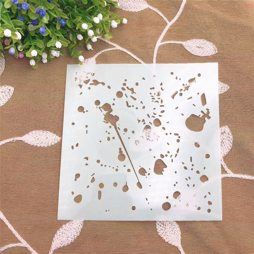 Ink Scrapbook Stencils Spray Plastic Mold Shield DIY Cake Hollow Embellishment Printing Lace Ruler Valentine