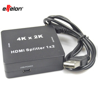 Effelon 4 K * 2 K Mini HDMI Splitter 1x2 1.4 V de audio HDMI splitter 1 en 2 de cada conmutador HDMI switcher Hd 1080 P Soporte 3D