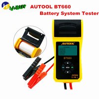 100% Original AUTOOL BT660 Battery System Tester Built in Thermal Printer Multi Language Automobile Battery Tester