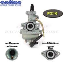 PZ16 Carb 16 мм карбюратор для 50cc 70cc 90cc 110cc двигателя Грязь Яма след двигатель велосипед картинг ATV Quad