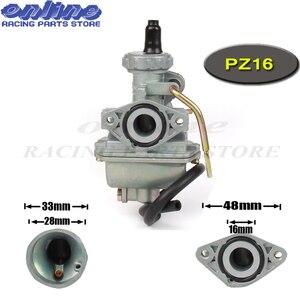 PZ16 Carb Карбюратор 16 мм для 50cc 70cc 90cc 110cc двигатель грязь Pit след двигатель велосипед Go Kart ATV Quad