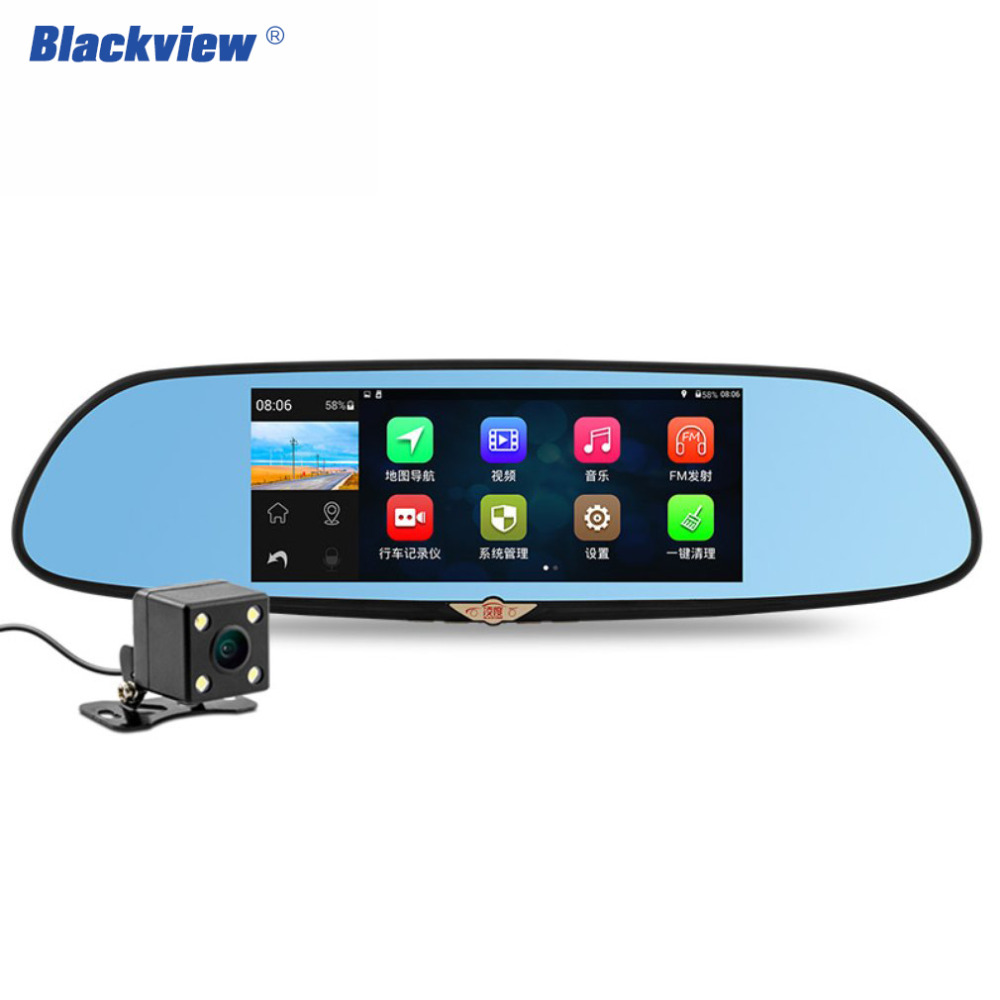 Blackview HS970 GPS Wifi Car camera dvr With Android 4.4 system 7 Inch IPS Screen 170 Degree Rear View camera car dash cam 1080P