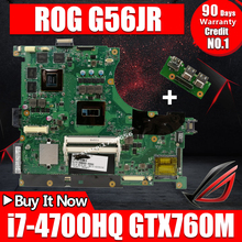 купить Send board +N56JR Motherboard i7-4700HQ GT760M For ASUS N56J G56J G56JR laptop Motherboard N56JR Mainboard N56JR main board онлайн