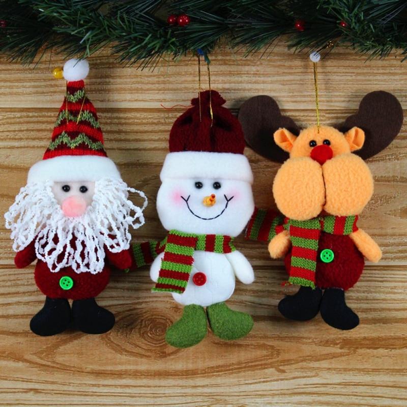 2018 christmas ornaments decorations 1pc snowman moose cute santa claus design christmas party supplies