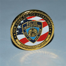 New York Police Department NYPD Challenge Coin Gold plated coins Commemorative coins, 10pcs/lot, free shipping patterson j nypd red 5