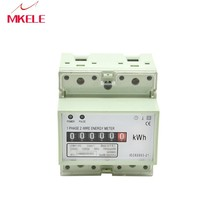 Digits Step Motor Impulse Register MK-LEM011AG Single Phase Din Rail Energy Power Electricity Meter Digital Display China