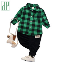 Children clothing set plaid winter girls kids clothes Gentleman Suit Boys back to school outfits for girls two piece outfits