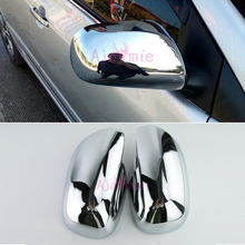 Chrome Car Styling Door Mirror Cover Overlay 2005 2006 2007 2008 2009 2010 2011 2012 For Toyota Yaris Accessories dashmats car styling accessories dashboard cover for toyota harrier 2003 2004 2005 2006 2007 2009 2008 2010 2011 2012 2013 rhd