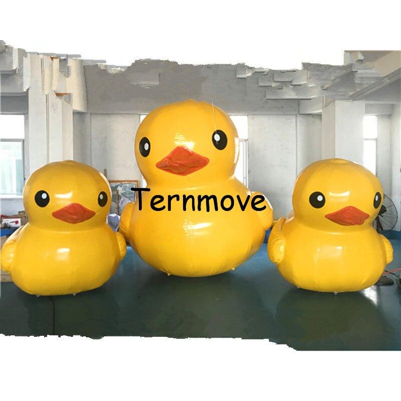 Gonflable jaune canard en caoutchouc canard utiliser pour ouvrir des affaires, activité commerciale, exposition, de noël, en plein air publicité