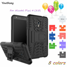 For Alcatel Pixi 4 Case Heavy Duty Armor Case  Rubber Hard Back Phone Cover For Alcatel One Touch Pixi 4 5045D 5045X 4G 5.0 inch euroline для alcatel one touch pixi 3 4 4013d grafit