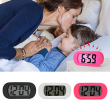 Child Snooze Alarm Clock Electronic Table Clock Digital LCD Watch Desk Alarm Clock With Sleep Mode And Night Illumination(China)