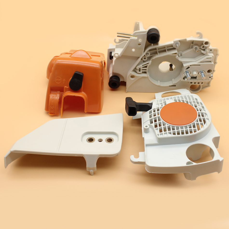 Crankcase Housing Clutch Cover Recoil Starter Kit For STIHL MS180 MS170 018 017 MS 180 170 Gasoline Chainsaw Plastic Spare Parts