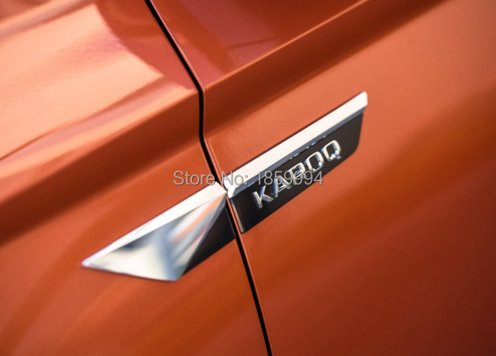 for 2017 2018 skoda karoq Original Side Wing Fender door Emblem Badge sticker Trim
