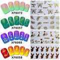 1 Sheet  Heart Star White Lace Nail Art Stickers Decals 3D Decoration Stickers Water Transfer