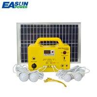 EASUN Мощность Портативный Солнечный Мощность генератор Mini20W Панели солнечные 12 В/7Ah свинцово кислотный Батарея DC солнечного освещения Систем