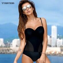 Купить с кэшбэком Swimsuit Women Plus Size Swimwear Push Up Sexy Halter Biquini Summer One Pieces Bathing Suits Beachwear Swimming Suit 2019