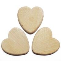 ZIEENE 300PCs 500PCs 1000PCs Natural Wood Color Big Love Heart Wooden Crafts DIY Button For Kids Gift Handmade Ornaments 50x50mm