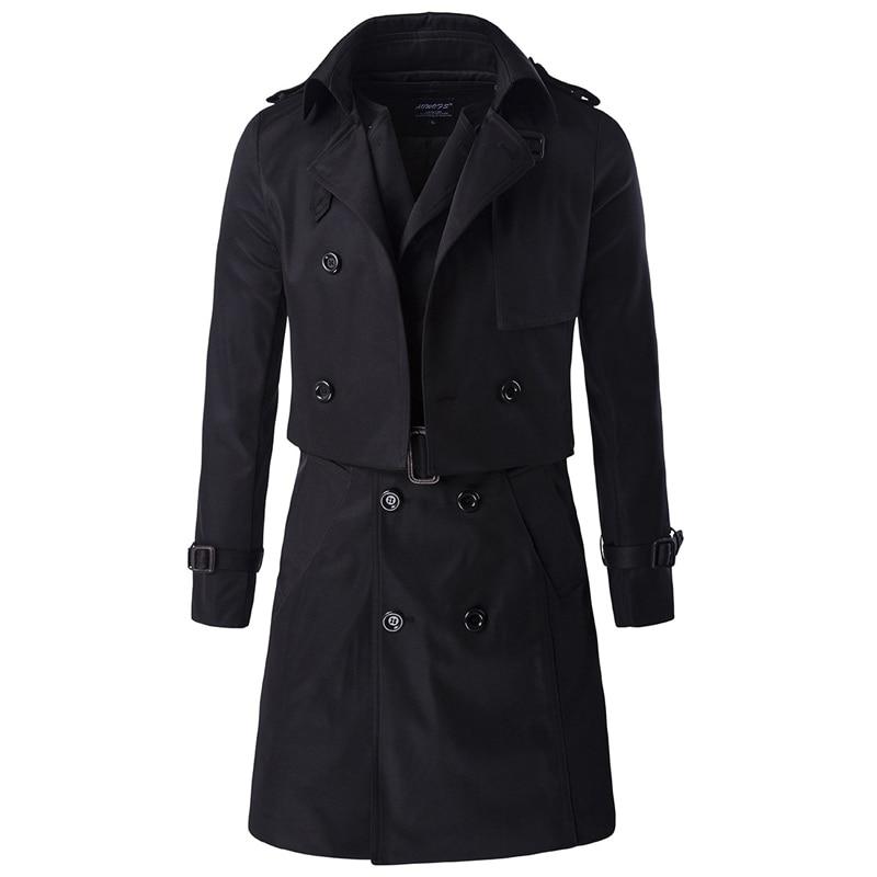 popular black trench coats men buy cheap black trench coats men lots from china black trench. Black Bedroom Furniture Sets. Home Design Ideas
