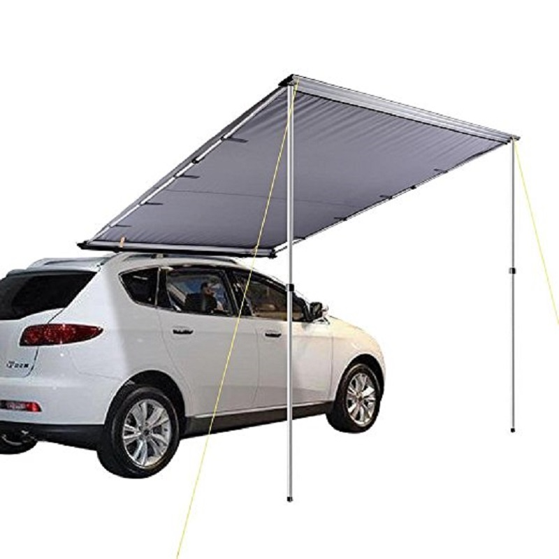 DANHCEHL Outdoor Dark Grey Roof Top Tent Sideawning Awning