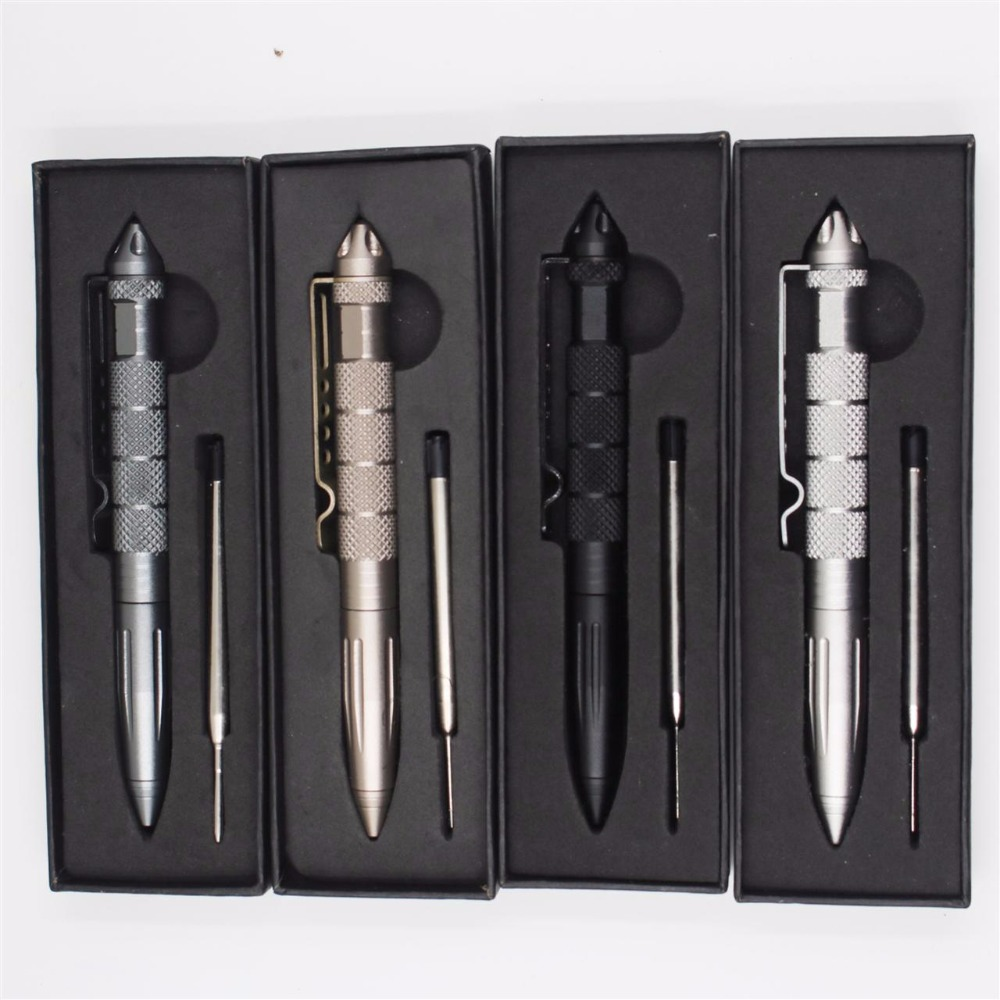 Free1 pc Refill Self Defense Supplies Pen Tactical Sharp Head Personal Tool With Writing Function B2