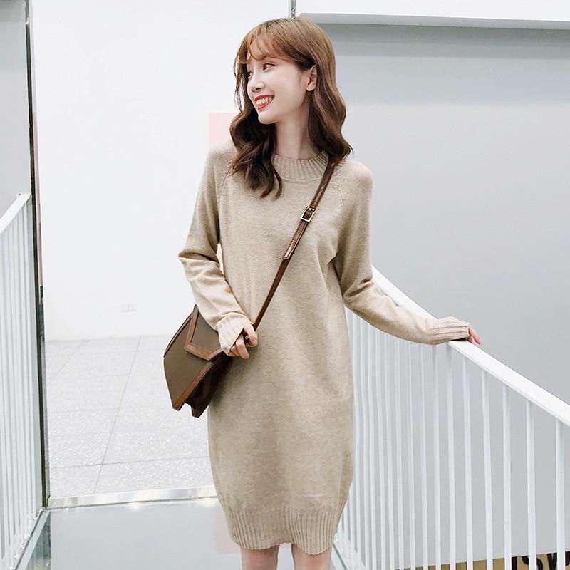 Lange pullover kleider