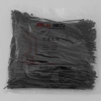 500Pcs Pack 5 200mm High Quality Width 3 6mm Black Color Factory Standard Self Locking Plastic